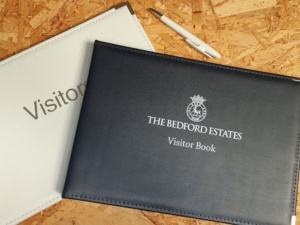 Visitor sign in books