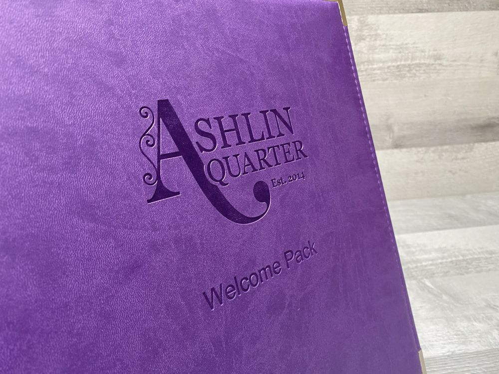 Purple welcome pack