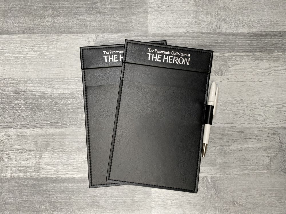Leather notepad holders